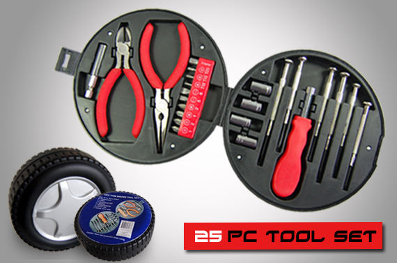 25 Piece Tyre Shaped Tool Set