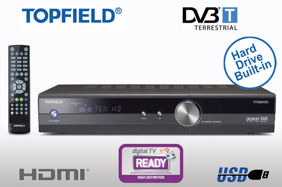 Topfield HD Video Recorder with DVB-T and Built-In 250GB HDD (TF7050HDRt)