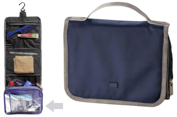 Tri-Fold Toiletry Kit Travel Bag