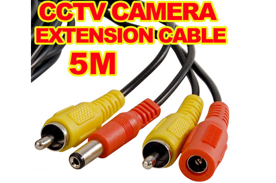 5M RCA Surveillance Camera Extension Cable