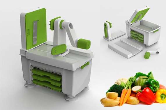 4 in 1 Vegetable Fruit Raw Food Kitchen Spiral Slicer Turner