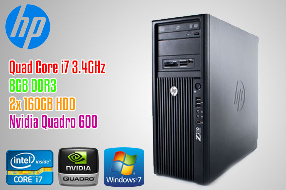 Ex-lease HP Z210 Intel i7 CMT Tower Workstation