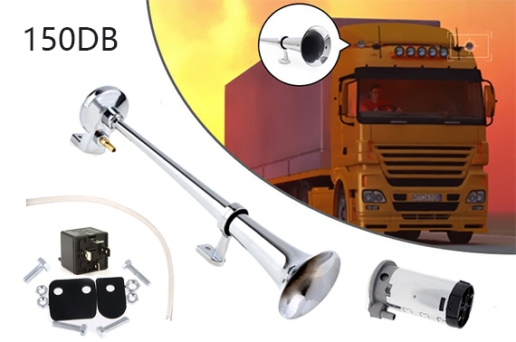 150db Truck Mega Train Single Trumpet Loud Air Horn w/ Compressor