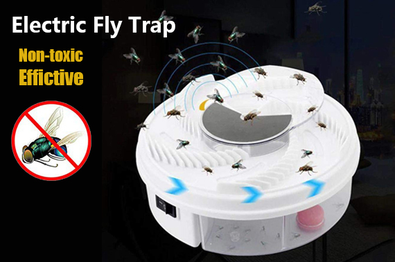 Electric Fly Trap Device with Trapping Food -White USB Cable Insect Killer