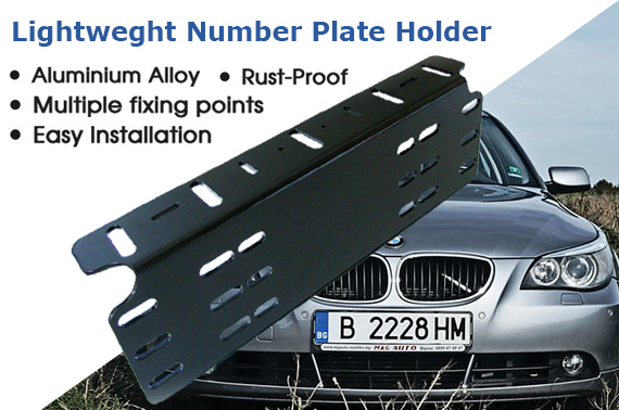 Car Number Plate Holder Bracket Licence Driving Light Bar