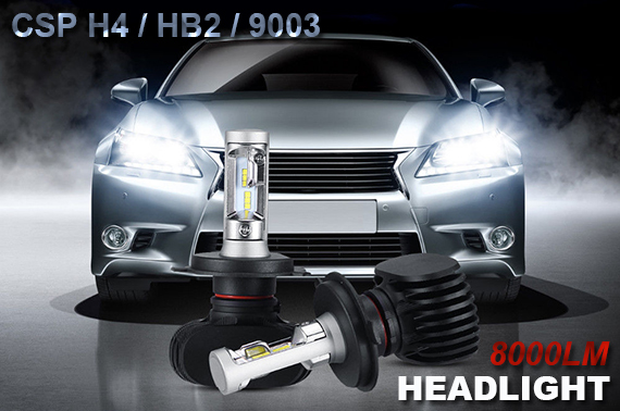 H4 HB2 CSP LED Bulbs High Low Beam Headlight Conversion Kit
