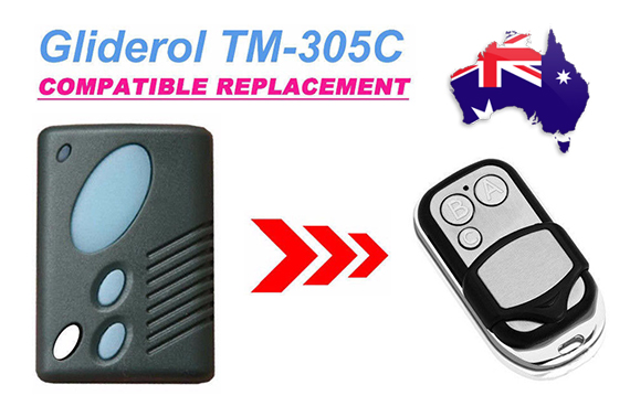 Gliderol TM305C GRD2000 GTS2000 Garage Door Remote Control Replacement