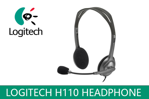 Logitech H110 Wired Stereo Headset with Noise Cancelling Mic