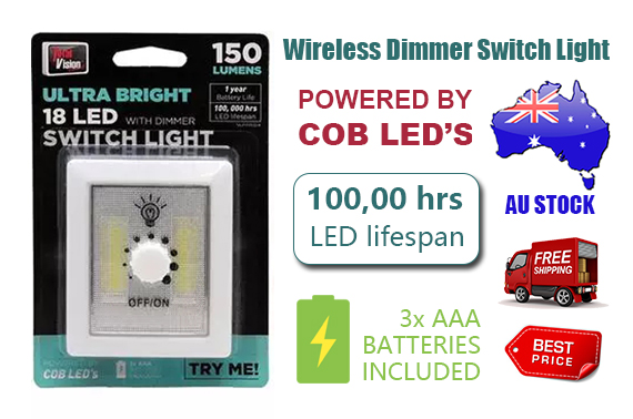 Ultra Bright 18 LED Light Dimmer Switch For Precise Control 150LM AU Approved
