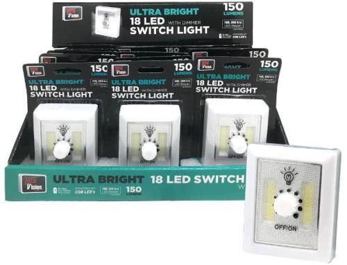 Ultra Bright 18 Led Light Dimmer Switch For Precise Control 150lm Au Approved Pretty And Colorful Lamps, Lighting & Ceiling Fans