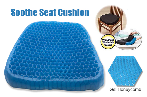 Gel Honeycomb Seat Cushion Flex Back Support Protector