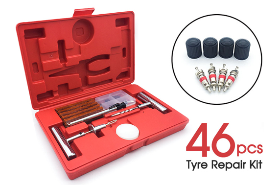 46PCS Tyre Puncture Repair Recovery Kit
