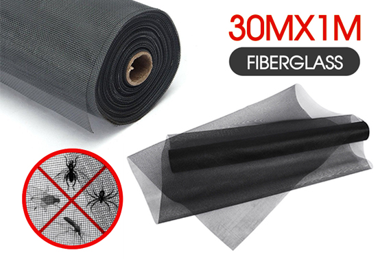 100FT / 30M Roll Insect Net Mesh Window Fly Screen
