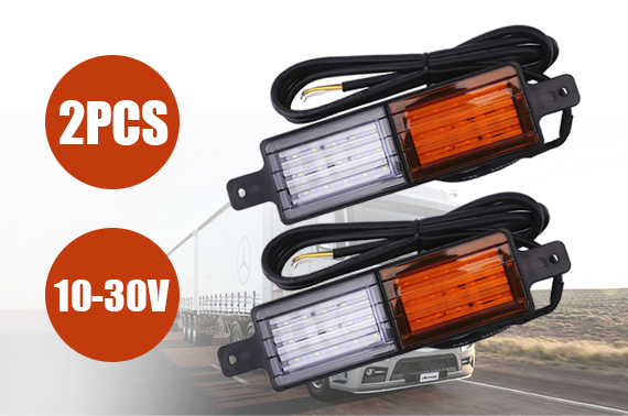 Set Of 2 Front Indicator Park LED Bull Bar Light Sealed Bullbar Lights