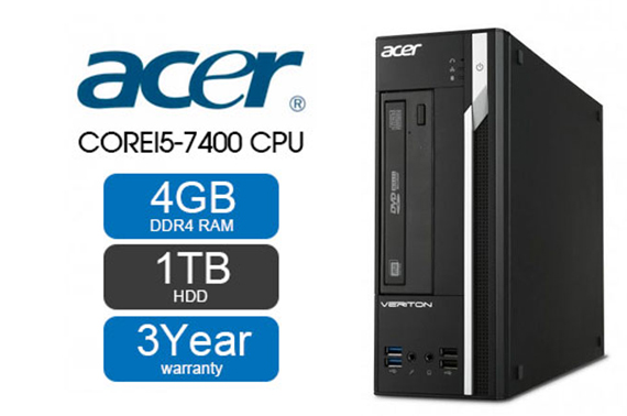 Acer Veriton X2640G SFF (Core i5 7th Gen 3.70 GHz, 1TB, 4GB, Win 10) PC Desktop