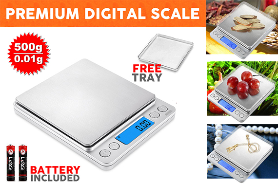 0.01-500g Digital LCD Electronic Kitchen Scale