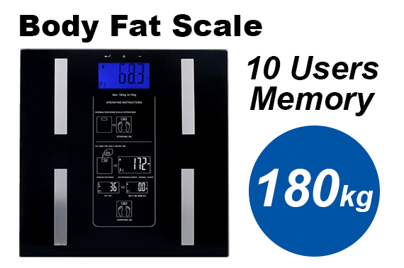 Electronic Digital Body Fat Weight Scale with LCD Display