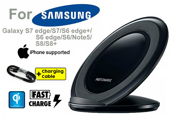 Wireless QI FAST Charging Charger for iPhone Samsung Galaxy S8 S9 S6 S7 Edge