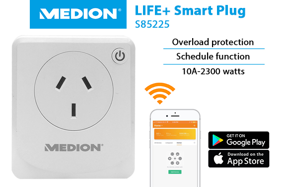 Refurbished Medion Wireless Wifi Life+ Smart AU Plug