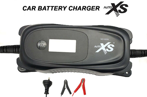 Refurbished AUTOXS 6V/12V Vehicle Car Battery Charger 60W 220-240V AC