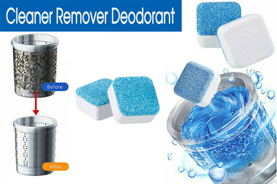 5 pcs Washing Machine Effervescent Tub Bomb Cleaner Remover Deodorant