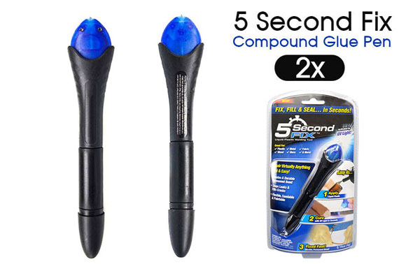 2PCS 5 Second Fix UV Light Cure Welding Compound Glue Pen Liquid Repair