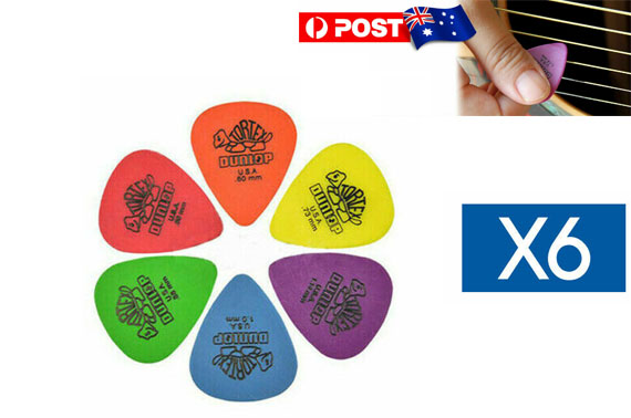 Jim Dunlop Tortex Standard Plectrums Mixed Pro Gauges Guitar Picks 6X