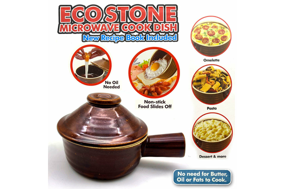 Ceramic Eco Stone Microwave Non-Stick Cooker + Recipe