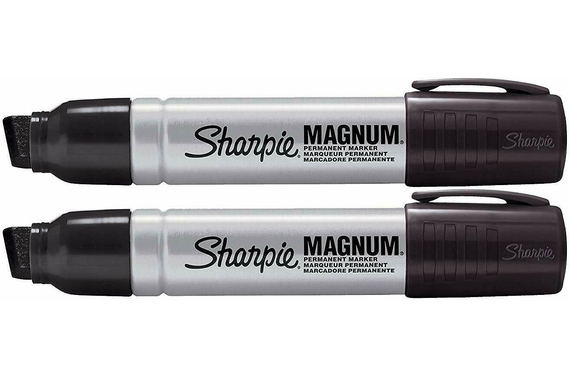 Sharpie 15mm Black Magnum Permanent  Marker Pen 2x