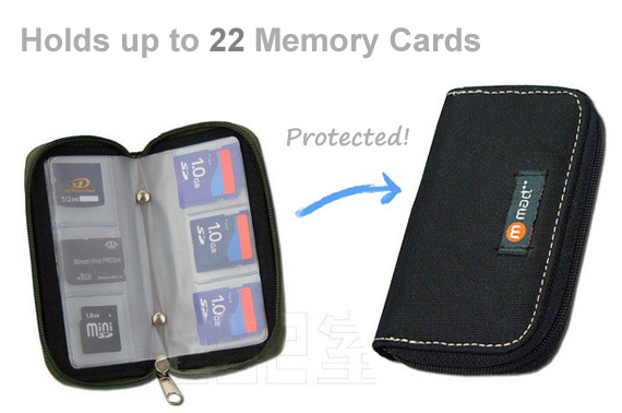 Anti-static Memory Card Storage Wallet