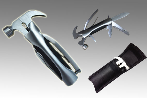 Quality 9-in-1 Stainless Steel Multifunction Tool with Hammer