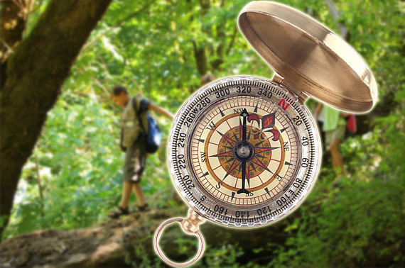 Classic Brass Pocket Watch Style Camping Compass