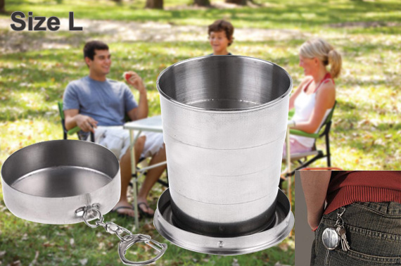 Collapsible Stainless Steel Travel Cup