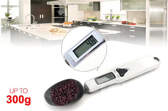 Digital 300 x 0.1g Kitchen Spoon Scale