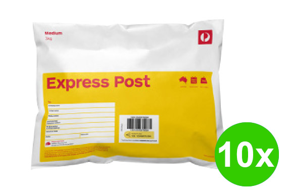 10x Express Post Satchel Bag 3kg