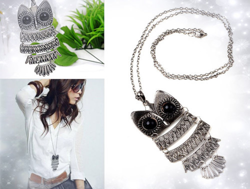 FREE Ozstock Day: Metal Fashion Necklace with Owl Pendant