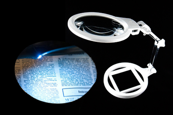 130mm 2X Foldable Magnifier with Light LED