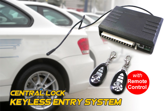 Universal Car Central Lock Keyless Entry System with Remote Controllers
