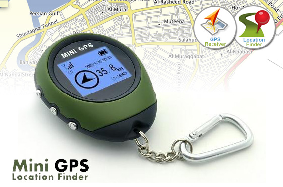 Mini GPS (GPS Receiver + Location Finder) with Keychain