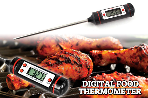 LCD Digital Kitchen Thermometer with Sensor Probe