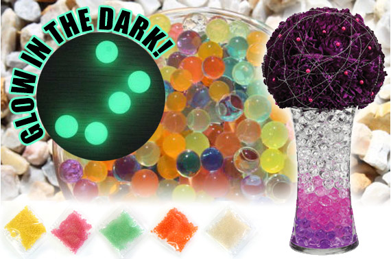 Glow In The Dark Water Pearl Beads (5 Bags, 5 Colours)