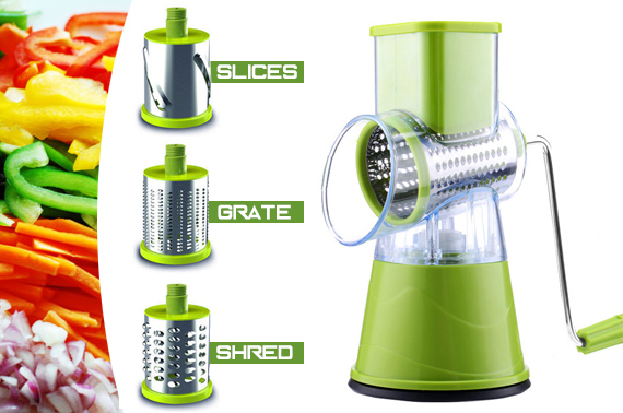 Manual Fruit Vegetable Round Slicer Grater