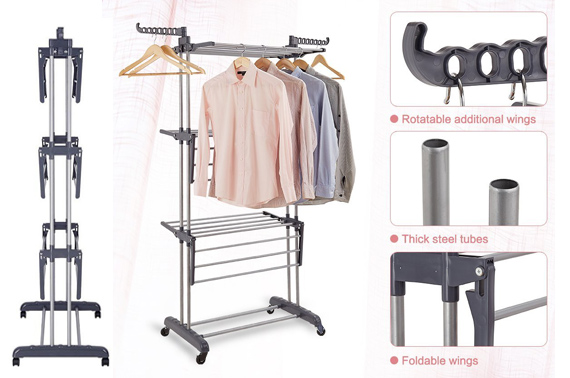 Foldable 6 Tiers Clothes Drying Rack