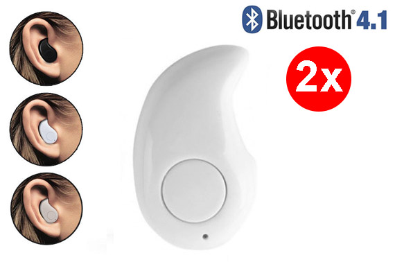 FREE Ozstock Deal: 2x Mini Wireless Bluetooth 4.1 In-ear Headset - White