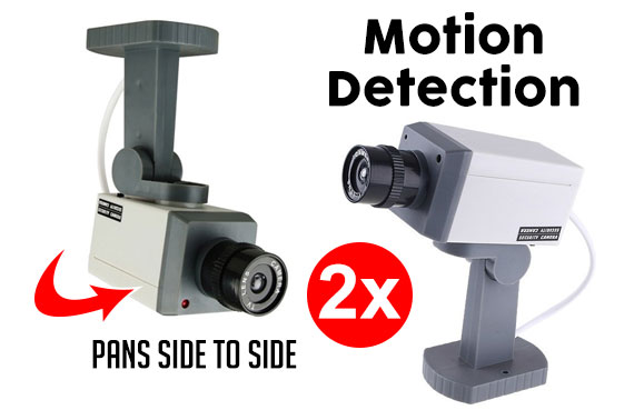 Free Ozstock Day: 2x Dummy Security CCTV Camera w/ Motion Detection Sensor & Activation Light