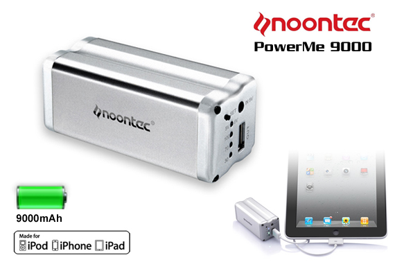 Noontec PowerMe 9000mAh Backup Battery For Travel - To Suit All Mobile Phones, iPad, Cameras