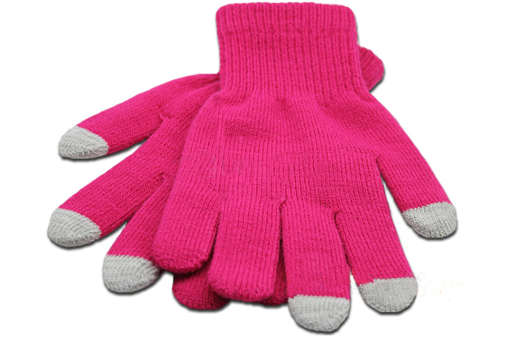 Touchscreen and Texting Gloves - Pink
