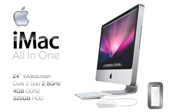 66 off super deal ex lease apple imac a1225 all in one. Black Bedroom Furniture Sets. Home Design Ideas