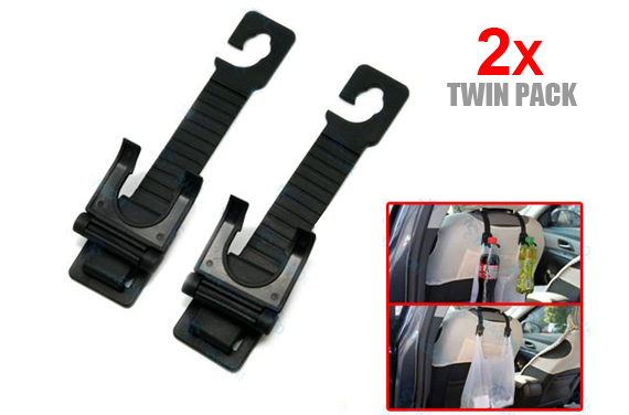 FREE Ozstock Day: 4x Car Seat Headrest Pothook for Hanging Drink Bottles and Bags (2x 2-Pack)