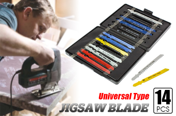 FREE Ozstock Day: 14 Pieces Universal Jigsaw Blade Assortment